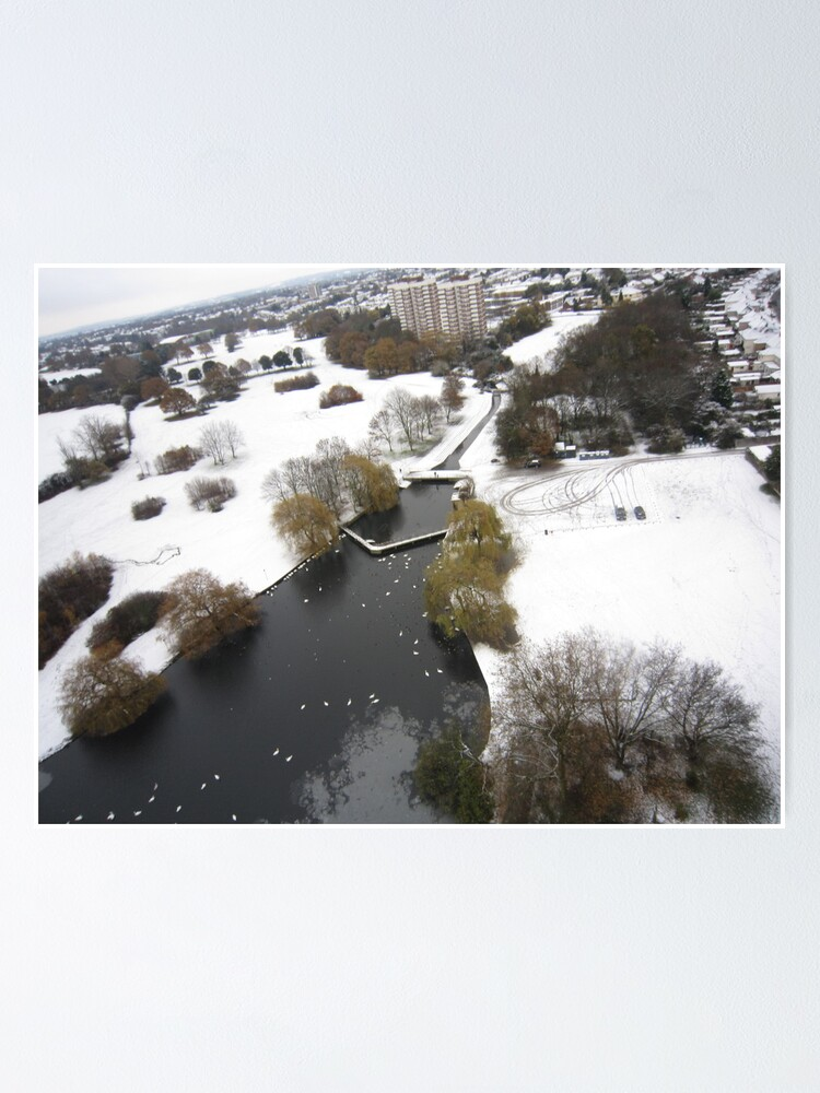 Alternate view of Snowy Hornchurch from Above Poster