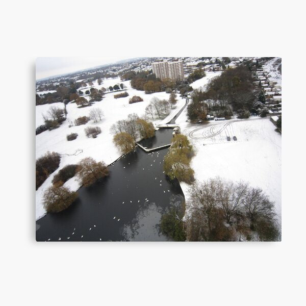 Snowy Hornchurch from Above Canvas Print