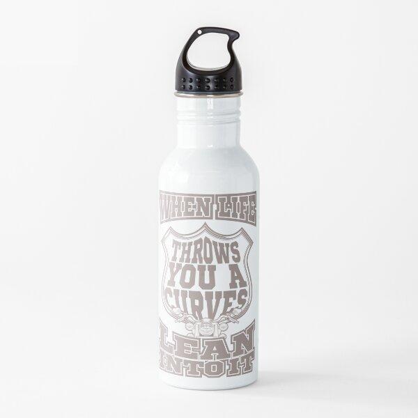 Lean Into It Biker Motorbike Presents Motorcycle Gift Water Bottle
