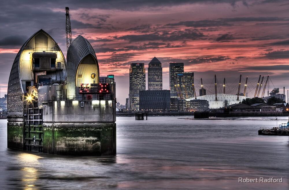 Thames Barrier Sunset by Robert Radford