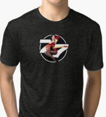 77 El Deora -Pin Up (a) Tri-blend T-Shirt