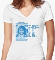 Advo Asks... Have You Seen Me? Women's Fitted V-Neck T-Shirt