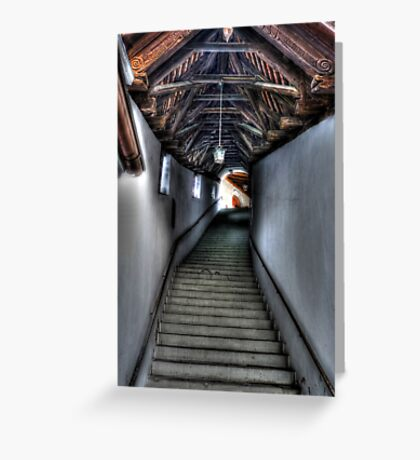 Stairs to Where? Greeting Card