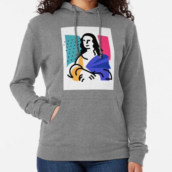 Illustration of the Mona Lisa Lightweight Hoodie