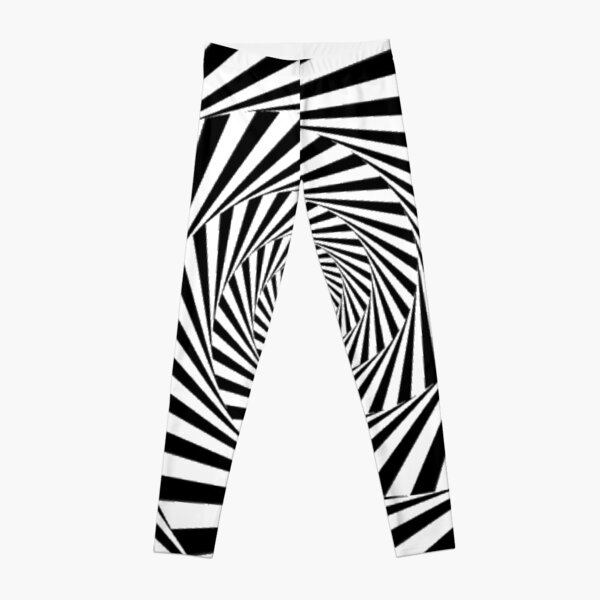 #Optical #Illusion #OpticalIllusion #VisualArt Black and White znamenski.redbubble.com Leggings