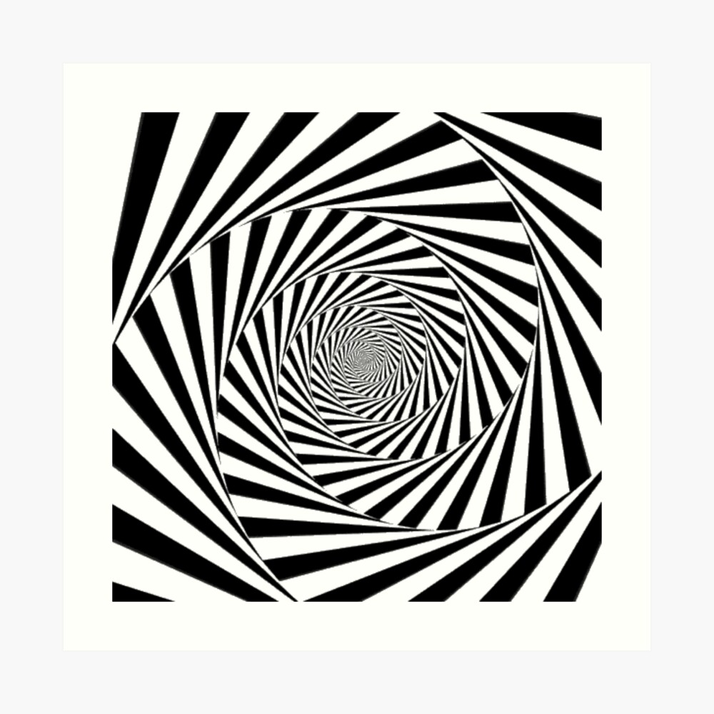 🍄 Optical Illusion, aps,840x830,small,transparent-pad