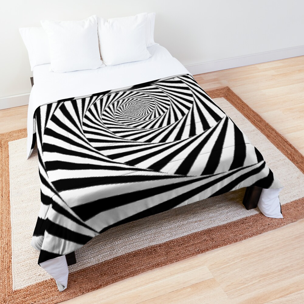 🍄 Optical Illusion, ur,comforter_top_king,square