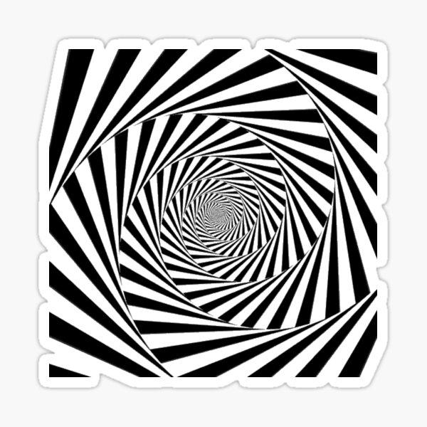 #Optical #Illusion #OpticalIllusion #VisualArt Black and White znamenski.redbubble.com Sticker