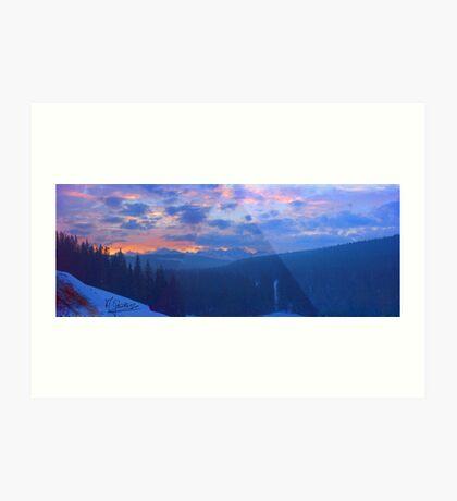 Tatra Mountins . Doctor Fautus. Art Print