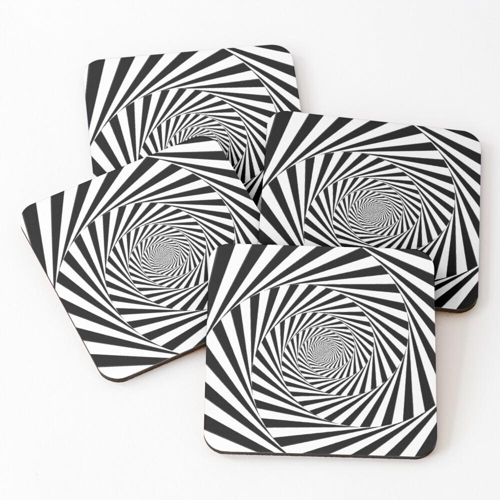 🍄 Optical Illusion, ur,coaster_pack_4_flatlay,square