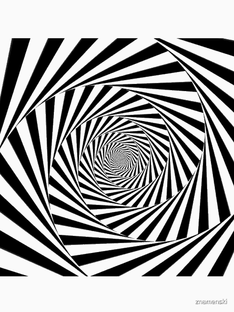 #Optical #Illusion #OpticalIllusion #VisualArt Black and White znamenski.redbubble.com by znamenski