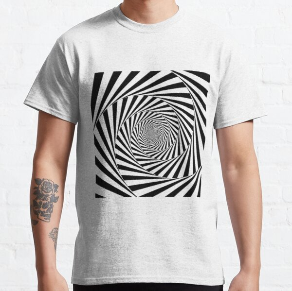 #Optical #Illusion #OpticalIllusion #VisualArt Black and White znamenski.redbubble.com Classic T-Shirt