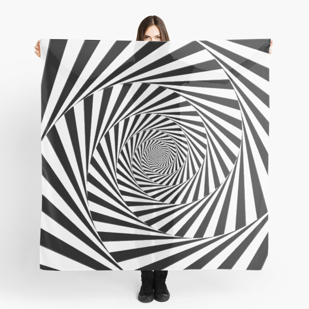 🍄 Optical Illusion, scarf
