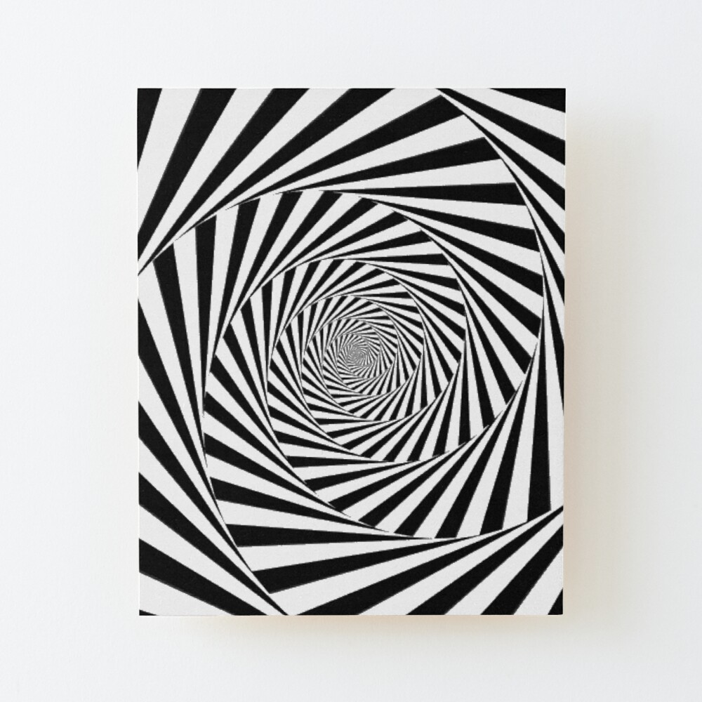 🍄 Optical Illusion, ur,mounted_print_wood_portrait_small_front,square