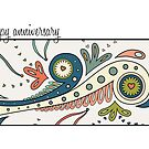 Abstract Happy Anniversary Card by abigailhausman