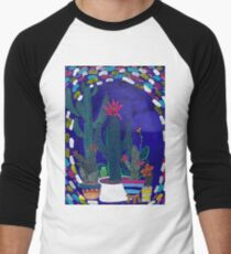 Cactus Odyssey, Potted Plants, colorful Succulents Baseball ¾ Sleeve T-Shirt