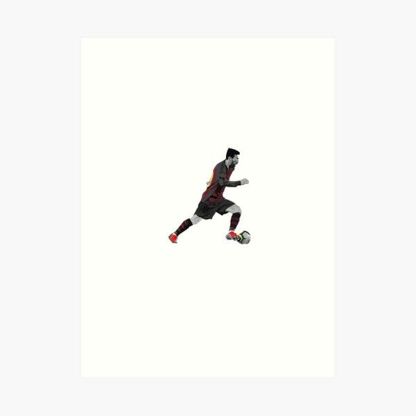 Messi dribbling Art Print