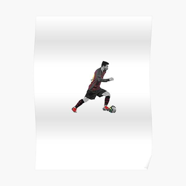 Messi tröpfelte Poster