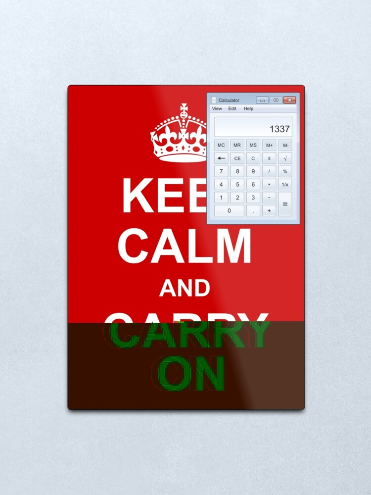 Alternate view of Keep calm and (real glitch) Metal Print