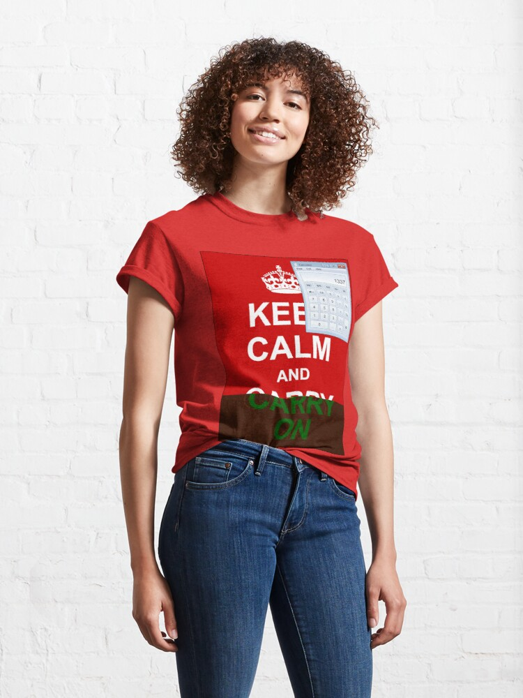 Alternate view of Keep calm and (real glitch) Classic T-Shirt