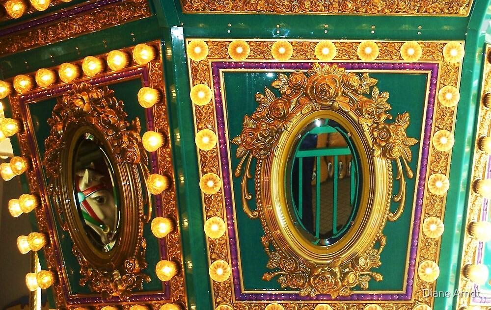 Carousel Reflections....Pojo's, in Boise, Idaho by Diane Arndt
