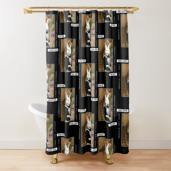 Mrs White Shower Curtain