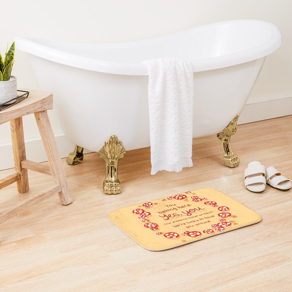 """""""You Belong Here"""" Mushroom Fairy Ring Bath Mat"""