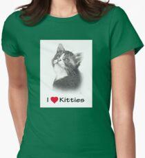 I Love Kitties: Kitten in Pencil Womens Fitted T-Shirt