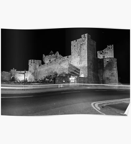 Cahir Castle at Night Poster