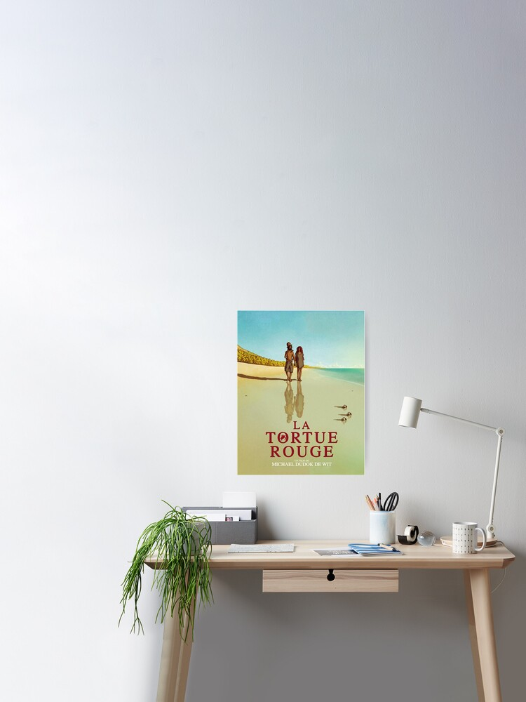 The Red Turtle Poster By Flowerly Redbubble