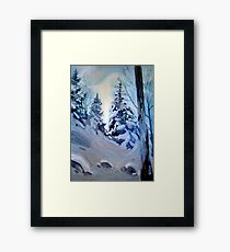 Snow Vision Framed Print
