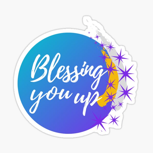 Blessing You Up: Sparkle and Stars Sticker