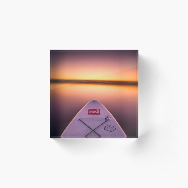 Sunset paddle boarding Acrylic Block