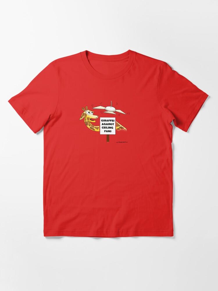 Alternate view of Giraffes Against Ceiling Fans. Essential T-Shirt