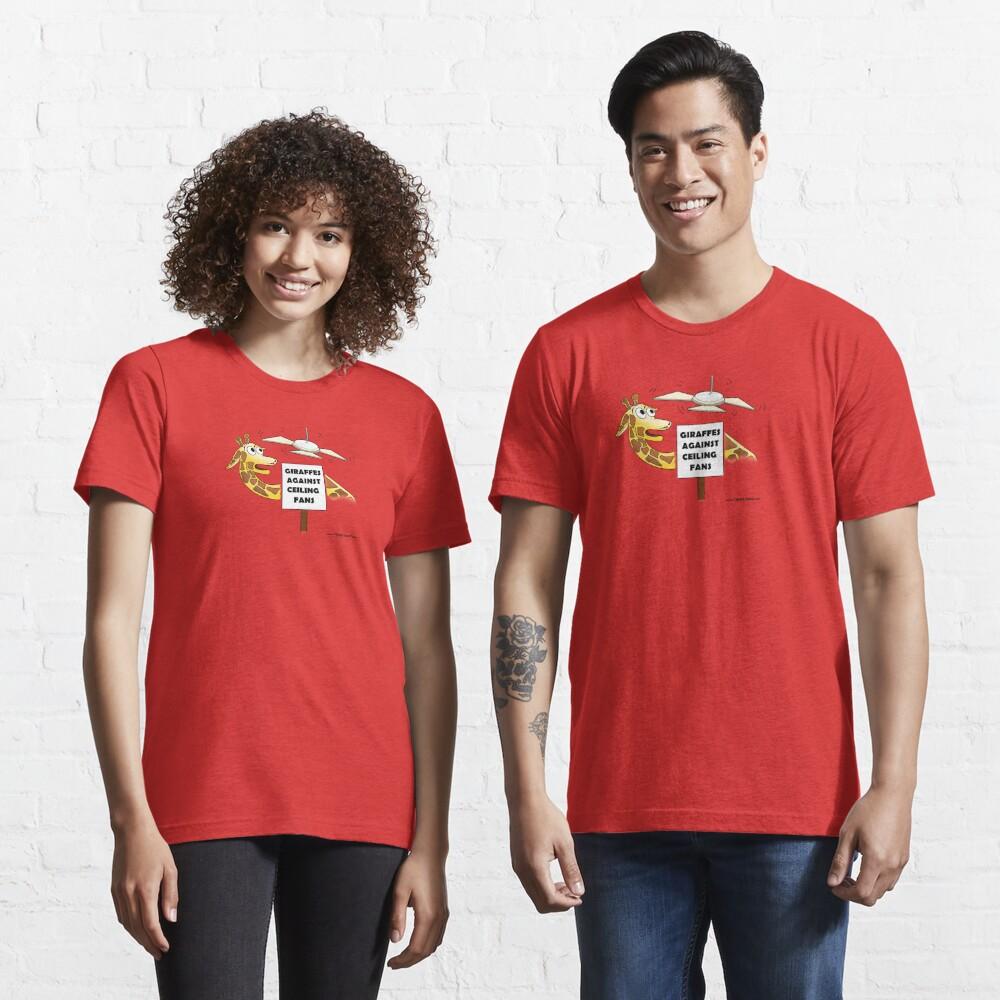 Giraffes Against Ceiling Fans. Essential T-Shirt
