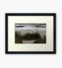 Quiet moment near the ocean Framed Print