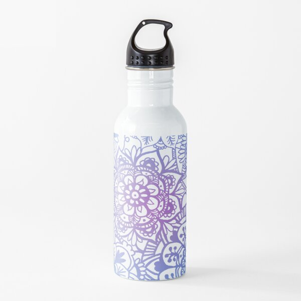 Pastel Mandala Pattern Water Bottle