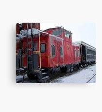 Cold Caboose Canvas Print