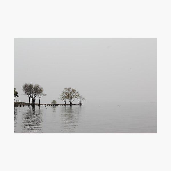 Biggest lake in Japan at Nagahama Hikone and Nagahama in Shiga Prefecture, located along the coast of the largest lake in Japan, Lake Biwa. Photographic Print