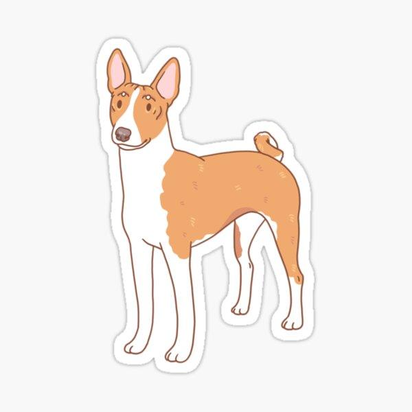Basenji Glossy Sticker
