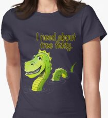 Loch Ness Monster Tree Fiddy Womens Fitted T-Shirt