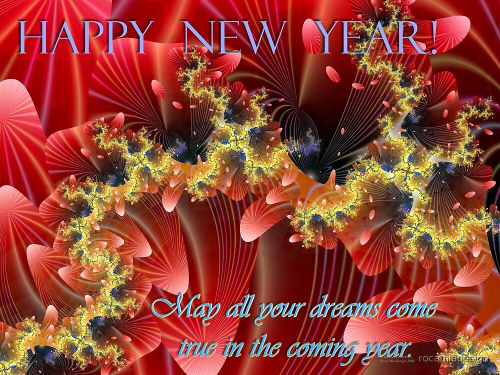 Happy New Year Card by rocamiadesign