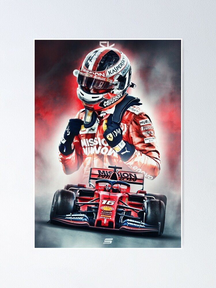 Charles Leclerc Poster Poster By Sevigraphics Redbubble