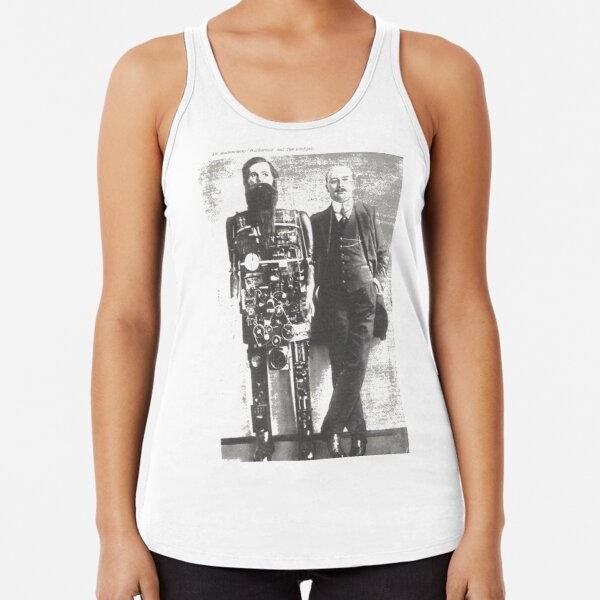 #Automaton #Robot - #Steam #Punk Racerback Tank Top