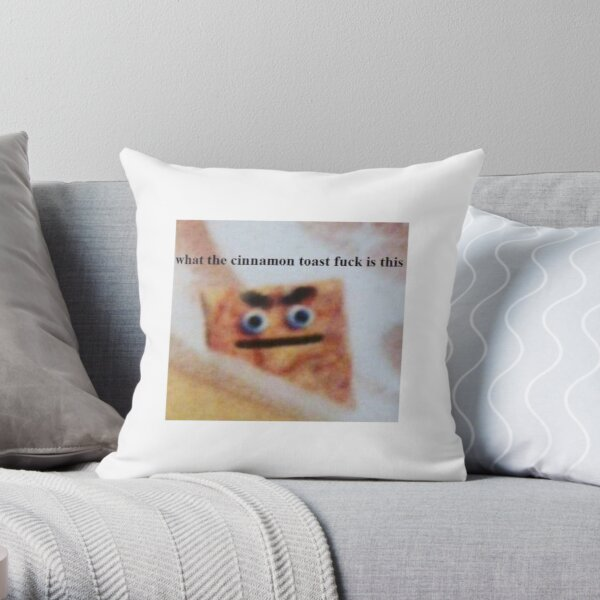 Cinnamon Toast Crunch Meme Throw Pillow
