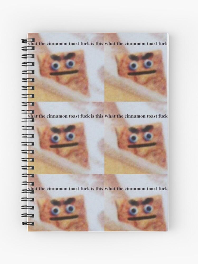 Cinnamon Toast Crunch Meme Spiral Notebook By Debracornell97 Redbubble
