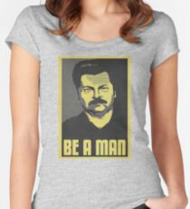 Be A Man Women's Fitted Scoop T-Shirt