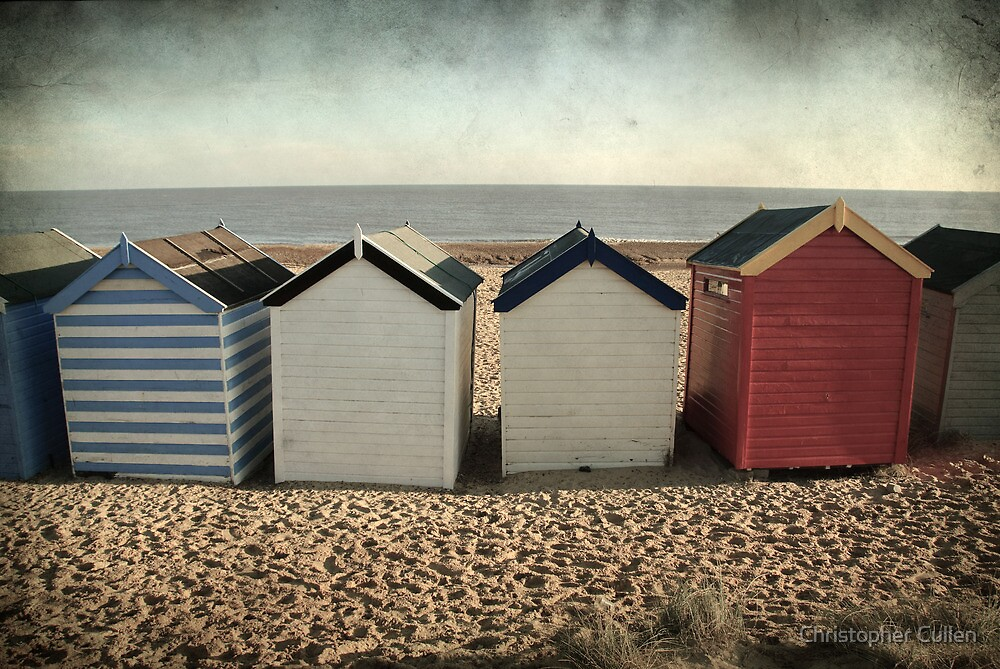 Beach Huts at Southwold by Christopher Cullen