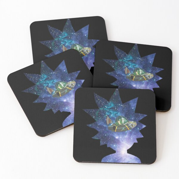 Rick Space - Universe | Rick and Morty inspired design Coasters (Set of 4)