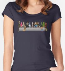 Monsters Last Supper  Women's Fitted Scoop T-Shirt